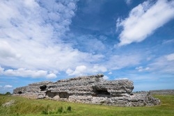 Ruins of a Roman Saxon Shore fort, also known as Richborough Fort or Richborough Roman Fort near Sandwich, Kent, in the United Kingdom