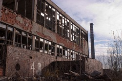 Ruins of a very heavily polluted industrial factory, the place was known as one of the most polluted towns in Europe.