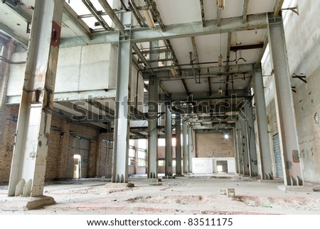 Ruins of a very heavily polluted industrial factory, the place was known as one of the most polluted place in Europe.