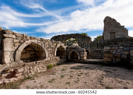 Ruins of  an ancient Greek colony Chersonesos in Crimea Ukraine