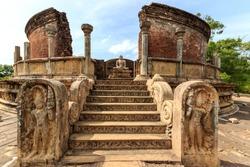 Ruins of an ancient temple in Polonnaruwa, Sri Lanka
