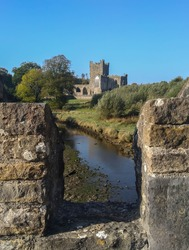 Ruins of an old castle in County Wexford, Ireland.