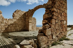 Ruins of an old church in Tenerife