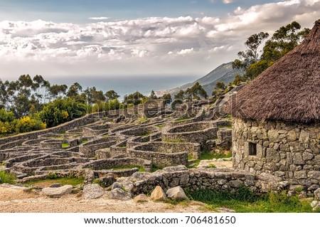 Shutterstock Ruins of ancient Celtic village in Santa Tecla, Galicia, Spain.