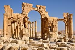 Ruins of ancient city of Palmyra - Syria (Before Civil War)
