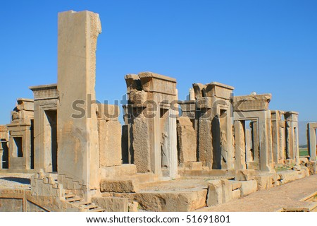 Ruins of ancient city of Persepolis, Iran