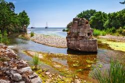 Ruins of ancient greek and roman ancient city of Olympos near Antalya Turkey