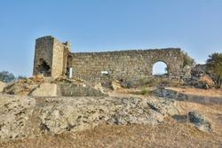 Ruins of ancient Herakleia around Lake Bafa in Turkey.