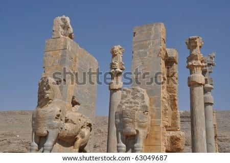 Ruins of ancient Persepolis , Ian