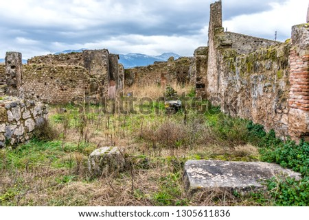 Ruins of Ancient Pompeii Italy