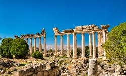 Ruins of Bustan al-Khan at Baalbek in Lebanon, the Middle East