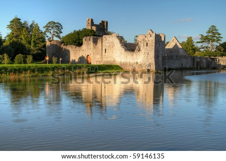 Ruins of castle in Adare - Ireland
