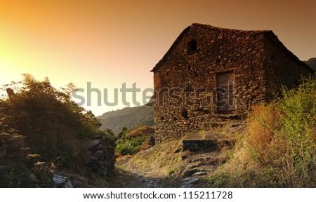 ruins of corsica village