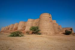 Ruins of Derawar Fort near Bahawalpur, Punjab, Pakistan