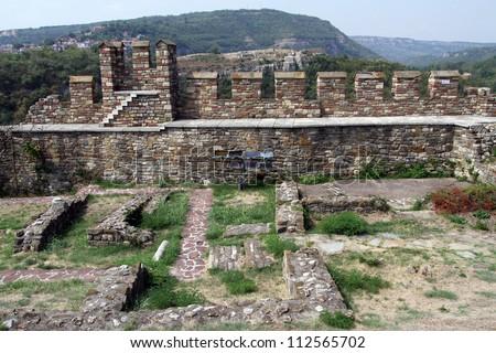 Ruins of fortress Tsarevets in Veliko Tirnovo, Bulgaria