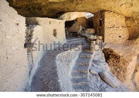 Ruins of, Gila Cliff Dwellings National Monument