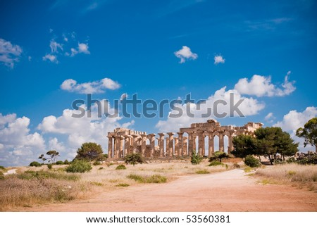 ... greek temple ruins of greek temple ancient greek temple isolated