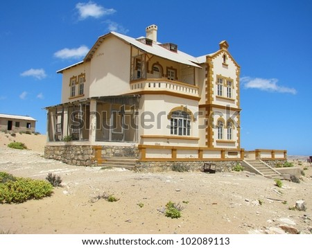 Ruins of house in ghost town Kolmasnkop, Namibia