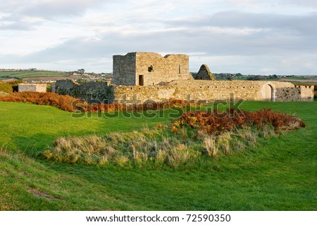 Ruins of James Fort in Kinsale. Cork County, Ireland