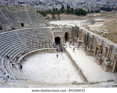 Ruins of Jerash, Roman city near Amman in Jordan