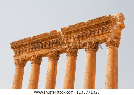 Ruins of Jupiter temple, Baalbeck, Lebanon