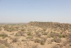 Ruins of Kanthkot Fort, Fort was build from 7th to 12th Century AD , now stand ruined due to 1819 and 2001 Massive earthquake.