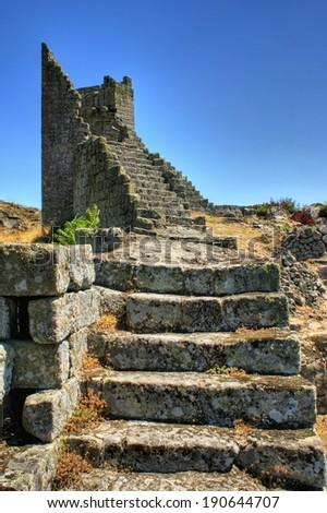 Ruins of Marialva historical village in Meda, Portugal