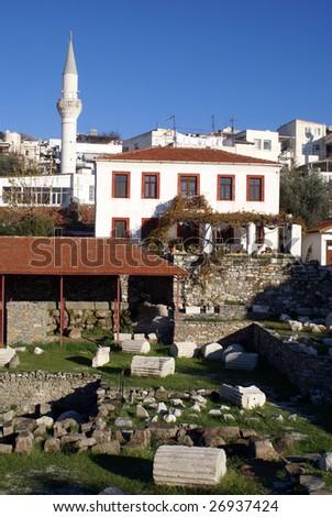 Ruins of mausoleum and mosque in Bodrum, Turkey