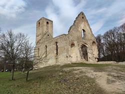 Ruins of medieval monastery Katarinka, Slovakia, Europe