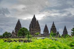 Ruins of  of the Prambanan Temple Compounds. Java. Indonesia