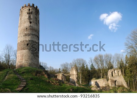Ruins of old Czech castle - just tower has left