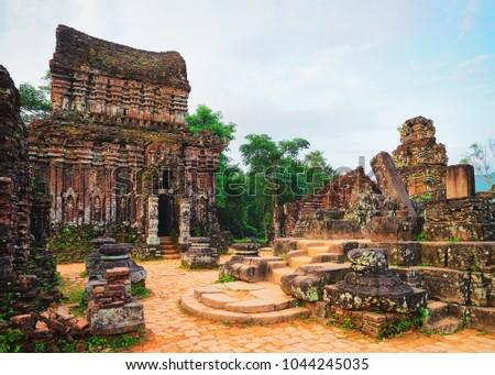 Ruins of Old hindu temple at My Son, Vietnam