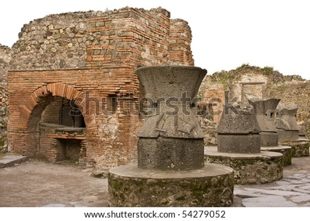 Ruins of Pompeii - the Bakery