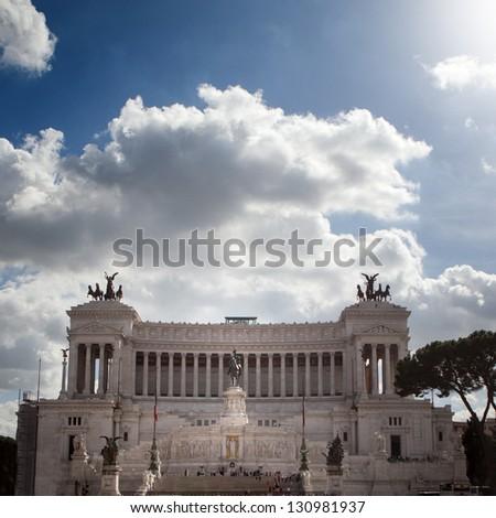 Ruins of Roman Forum, Trajan's column in Rome