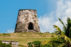 Ruins of Rust Op Twist Sugar Mill plantation, St. Croix, US Virgin Islands.
