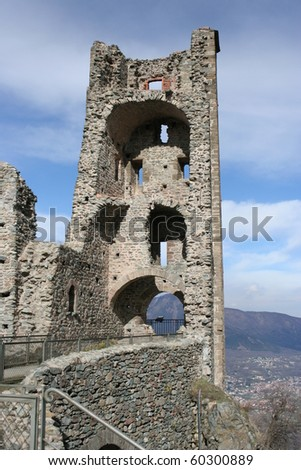 Ruins of San Michele Abbey, Called Sacra di San Michele (Val Di Susa Piemonte Italy)