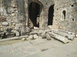 Ruins of St. Nicholas Church at location Demre, Antalya