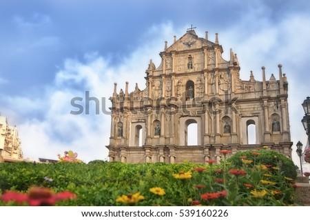 ruins of st. paul's church in...