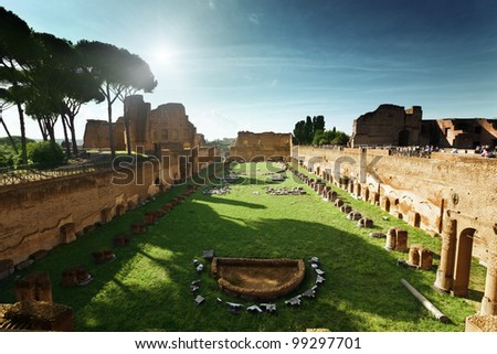 Ruins of Stadium Domitanus, Italy