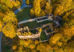 Ruins of Swiecie Castle.  Swiecie, Lower Silesia, Poland.