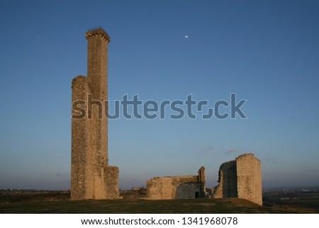 Ruins of 13th century french castle (Castelnau-de-Levis)