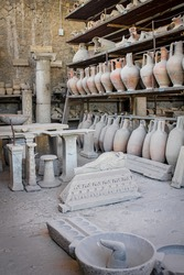 Ruins of the ancient Italian city of Pompeii.