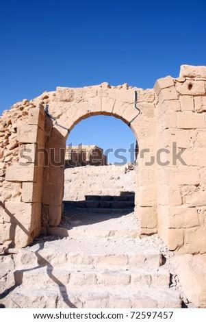 Ruins of the ancient Masada fortress in Israel