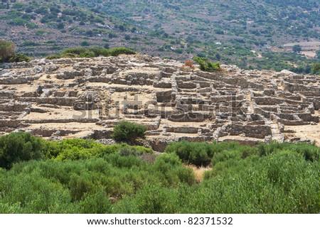 Ruins of the ancient Minoan settlement Gournia, Crete, Greece