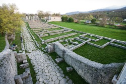 ruins of the ancient Roman city of Sepino, Campobasso, Molise, Italy