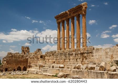 Ruins of the ancient Roman sacred site Baalbek, Lebanon
