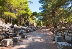 Ruins of the ancient town at Phaselis, Antalya