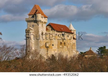 Ruins of the castle of medieval age, Liechtenstein, in Lower Austria