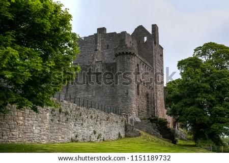 Ruins of the famous Craigmillar castle keep, Scotland, UK