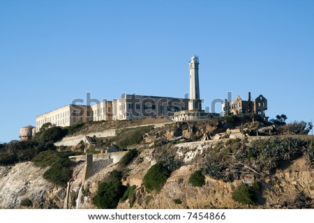 ruins of the federal penitentiary at Alcatraz, San Francisco, California